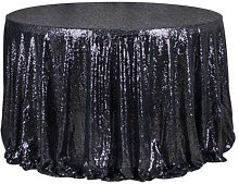 47 '' Sparkling Sequin Round Tablecloth,