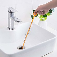 47.5cm Orange Long Drain UnBlocker Stick Tool Hair