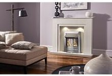 48' Melford Marble Fireplace in China White