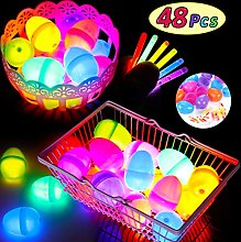 48 Pieces Glow in the Dark Easter Eggs with 2 Inch