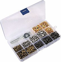 480 Sets 3 Sizes Leather Rivets Double Cap Rivet