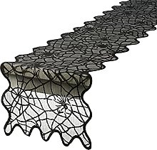 48x14 inches Halloween Table Runner Black Spider