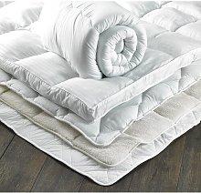 4cm Polyester Mattress Topper Symple Stuff Size: