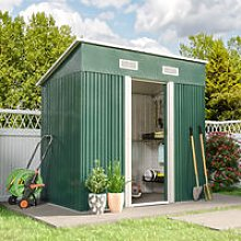 4ft x 6ft Metal Garden Shed Outdoor Tool shed -