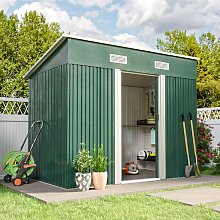 4ft x 8ft Metal Garden Shed Outdoor Tool shed -