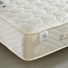 4ft6 Double Quilted Mattress Bamboo Natural