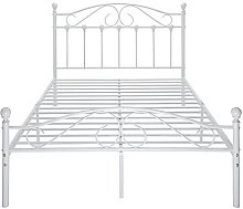 4ft6 Metal Bed Frame Double Size Bedroom Furniture
