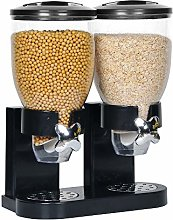 4HOMART Double Barrel Cereal Dispenser with Large