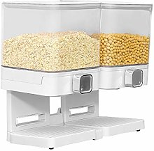 4HOMART Square Double Barrel Cereal Dispenser with