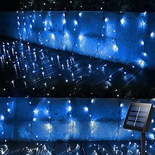4m ×1m Solar Garden Curtain Lights String Outdoor