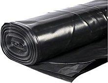 4M Wide 500G Black POLYTHENE Plastic SHEETING
