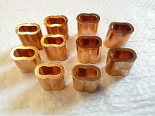 4MM, Double Barrel, Copper Ferrules / Sleeves For
