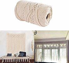 4mm Handmade Natural Cotton Cord Rope Macrame Wall