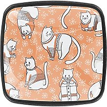 (4Pack) Cabinet Knobs Draw Pulls Door Knobs Kitten