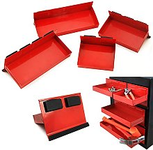 4pc Magnetic Toolbox Tray Set Tool Box Cabinet