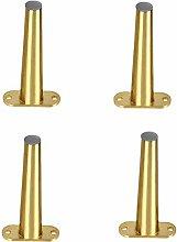 4pcs 150mm Golden Furniture Cabinet Metal Legs