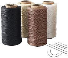 4pcs 260 Meter 0.8mm 150D Flat Leather Waxed