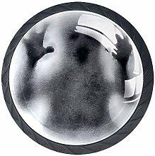 4PCS 30mm Halloween Shadow Haunt Nightmares Clear