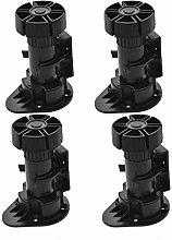 4pcs Adjustable Height Cupboard Foot Legs Plastic
