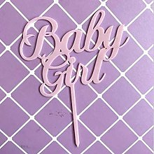 4PCS Baby Girl Baby Boy Cake Toppers Flags Kids