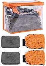 4Pcs Car Cleaning Kit, Car Wash Sponge Car