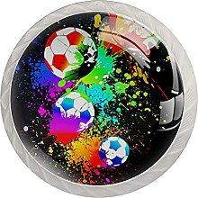 4PCS Colorful Crystal Glass Cupboard Wardrobe