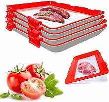 4pcs Creative Food Preservation Tray Reusable