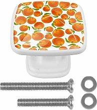 4PCS DIY Glass Knobs Button Mushroom Square