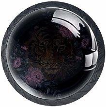 4pcs Door Knobs Beautiful Round Shape Drawer