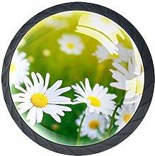 4pcs Door Knobs Chrysanthemum Round Shape Drawer
