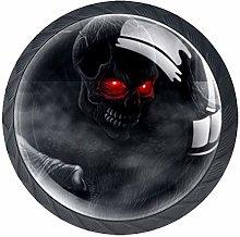 4pcs Door Knobs Monster Round Shape Drawer