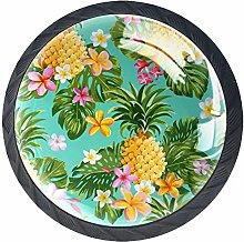 4pcs Door Knobs Pineapple Round Shape Drawer