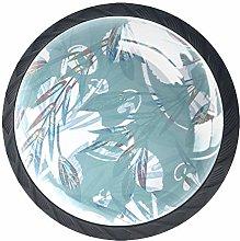 4PCS Drawer Knob Pull Handle Crystal Glass Cabinet