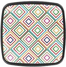 4PCS Dresser Square Knobs - Colorful Decorative