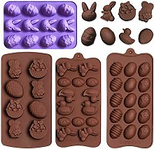 4Pcs Easter Egg Mould Bunny Rabbit Duck Easter