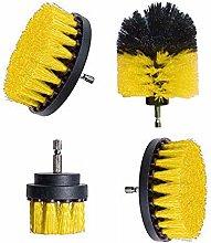 4Pcs Electric Drill Brush Kit Plastic Round