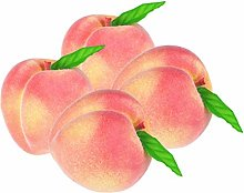 4pcs Fake Fruit Peach - Artificial Fruit Plastic