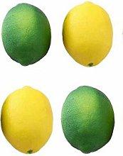 4Pcs Fake Lemons Artificial Fruit Pretend Party