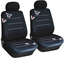 4PCS Fashion Butterfly Pattern Car Seat Covers