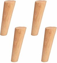 4Pcs Finished Solid Wood Furniture Legs,Wooden