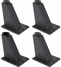 4PCS Furniture Cabinet Feet,Adjustable Black