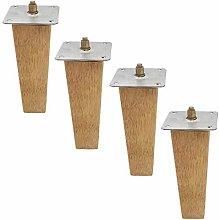 4Pcs Furniture Leg,Solid Wood Sofa Legs,Oak