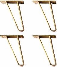4PCS Furniture Legs Metal Trapezoidal Furniture