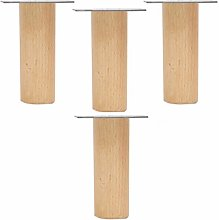 4PCS Furniture Legs,Sofa Legs,Solid Wood Tapered