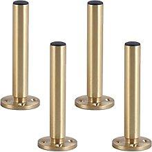 4pcs Furniture Support Legs Adjustable Pure Copper