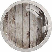 4pcs Glass Cupboard Cabinet Door Knobs Drawer