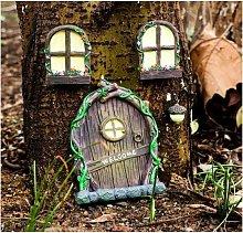 4Pcs Glow in The Dark Miniature Garden Decorations