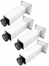 4PCS Height Adjustable Stainless Steel Metal