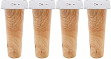4pcs Height Wooden Furniture Legs Replacement Sofa