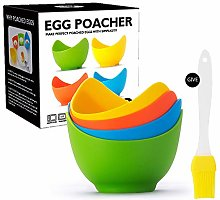 4pcs High Temperature Resistant Silicone Egg
